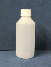 250ml Natural HDPE Plastic Bottles with 28mm Wadded Screw Caps (1-50)
