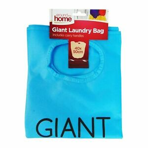 Giant Laundry Bag Basket Handles Foldable Washing Clothes Storage Bin