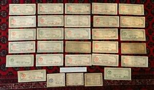 Mindanao Philippines Emergency Guerrilla Currency 1943 44 WWII Notes Lot Culls