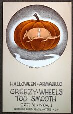 Halloween Armadillo Headquarters Concert Poster, art by Jim Franklin.Austin,1975