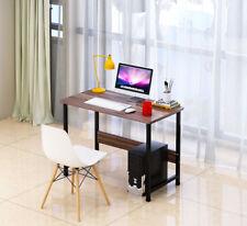 Computer Office Desk Corner Laptop PC Wood Writing Table Work Station Metal Leg