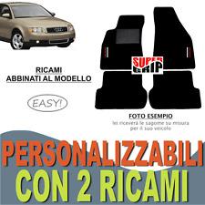 PER AUDI A4 (B6) TAPPETI AUTO SU MISURA MOQUETTE E FONDO GOMMA + 2 RICAMI EASY