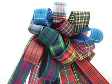 25MM TARTAN RIBBON BUNDLE 8 X 1MTR BERISFORDS
