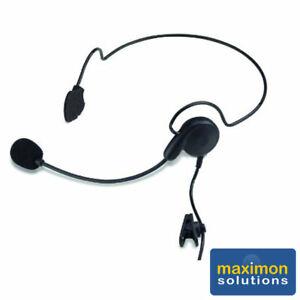 Max-89 Lightweight Rear Headband Earpiece and Mic for Vertex walkie talkies