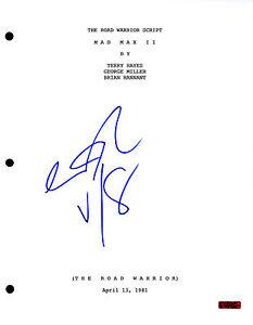 GFA The Road Warrior GEORGE MILLER Signed Full Movie Script PROOF AD1 COA