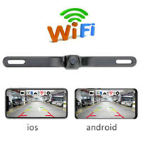 170 ° WiFi Kfz-Kennzeichenhalter Wireless Backup-Rückfahrkamera Nachtsicht