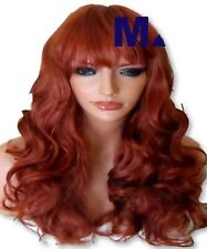 Curly Copper Wig Womens Ladies Long Copper Red fashion adult full WIG M-26