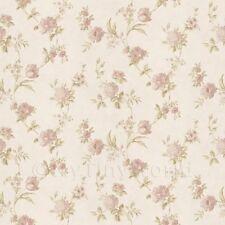 Puppenhaus Miniatur gemischten blassrosa Blumen auf weiß Tapete