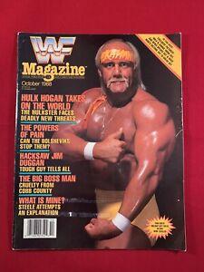 WWF / WWE Magazine October 1988 Hulk Hogan Hacksaw Boss Man Patera W/ Sleeve!