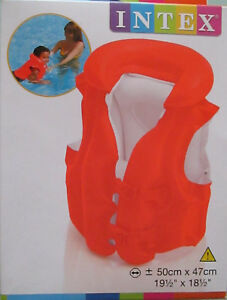 Schwimmweste orange-weiß für Kinder von Intex neu OVP