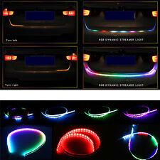 120cm-Car-RGB-LED-Strip-Rear-Trunk-Tail-Light-Dynamic-Streamer For Brake&Turn