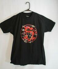 Disney Mens Mulan Mushu Black Short Sleeve Shirt Size Large