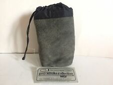 Camera Lens Bag New Coastar Grey Smoke Collection Suede Leather Padded