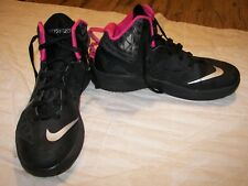 Nike Zoom Hyperfuse 2013 Black Pink Basketball Athletic Sneakers Shoes Mens 8.5