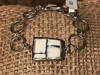 Recycled Porcelain & Metal Jewelry, Contemporary Collection, Weave Bracelet