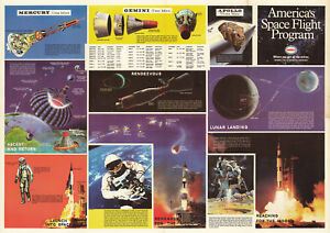 "1969 NASA Poster America's Space Flight Program Missions Wall Art Print 11""x16"""