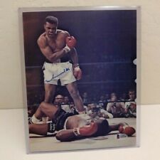 Muhammad Ali vs Sonny Liston signed color photo, authenticated by Beckett