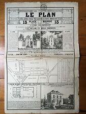 Journal LE PLAN Original de 1845 Locations et ventes Immobilières Paris Banlieue
