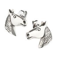 Ohrstecker Pferd aus Sterling Silber für Kinder Damen und Herren