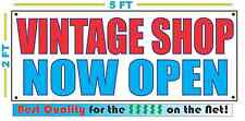 Vintage Shop Now Open Banner Sign New for clothes furniture decor