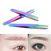 Colorful Hair Removal Eyebrow Tweezer Eye Brow Clips Beauty Makeup Tools UK