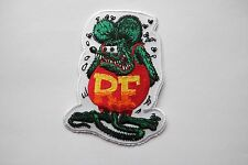 #1008 HOT RODS,KUSTOM KULTURE WOVEN EMBROIDERY IRON ON APPLIQUE PATCH,RF,ED ROTH