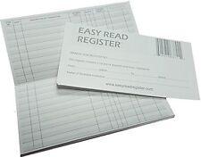 NEW 5 Pack Checkbook Transaction Register Records by Easy Read Register