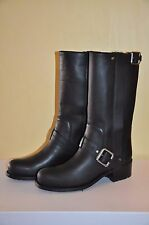 Authentic Christian Dior Black Leather Biker BOOTS 36.5/us6.5