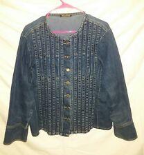 Ashley Stewart Women's Size XL Blue Denim Jean Button Down Top Jacket