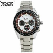 JARAGAR Mens Watches Top Brand Automatic Mechanical Wrist Watch Steel Bracelet
