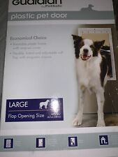 Guardian by PetSafe White Plastic Pet Door Large for Pets to 100 lbs New In Box