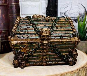Ebros Pirate Davy Jones Skulls And Bones Treasure Chest Design Jewelry Box