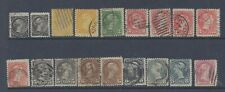 CANADA  QV SMALL TYPES  RANGE OF 18 USED COPIES