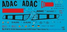 Peddinghaus 1/87 (HO) EC145 Helicopter Markings D-HLRG ADAC Christoph 77 2847