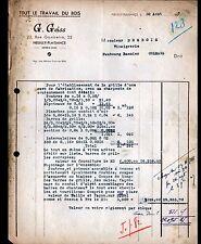 """NEUILLY-PLAISANCE (93) TRAVAIL du BOIS / MENUISERIE """"G. GEISS"""" en 1947"""