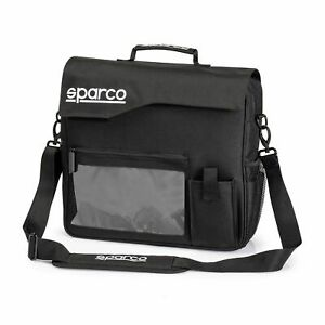 Sparco Co-Driver Navigator Equipment Maps Rallying Bag In Black