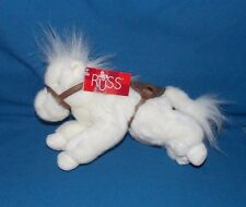 Russ Berrie White Pony Horse stuffed plush Rodey 9""