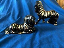 Vintage Pair of Mid Century Zebras (porcelain)