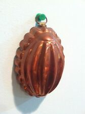 New listing Small Vintage Wall Hanging Single Serving Tin Lined Copper Jello Pudding Mold