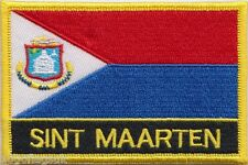 Netherlands Sint Maarten Flag Embroidered Patch Badge - Sew or Iron on