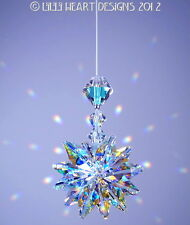 m/w Swarovski Crystal Twinkling Star Lily Octagon SunCatcher Lilli Heart Design