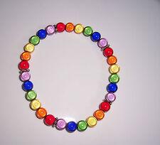 Rainbow Miracle Bead Anklet  - lesbian - Handmade