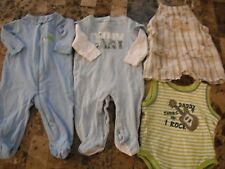 baby boys 4 PIECE LOT outfits sleepers pjs DKNY baseball DADDY ROCK 3/6 months