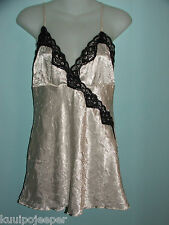 CHEMISE BY TWENTY ONE SIZE L OFF WHITE WITH BLACK LACE TRIM