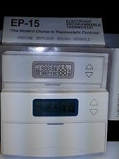 Manuf Closeout 1.5 Amps Electronic Programmable Thermostat Heat/Cool 5-1-1