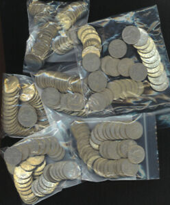 Canada King George V 1922-1936 5 Cents Lot of 40 Random Pieces 1 Bag $2 Face