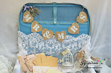 Suitcase Bunting Mr Mrs Hessian Burlap Banner Wedding Party Decorations