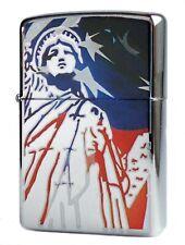 Zippo Lighter ● Lady Liberty USA Freedom High Polished ● Neu New OVP ● A588