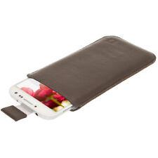 Marrón Funda Bolsita de Pielpara Samsung Galaxy S4 IV I9500 Smartphone Carcasa