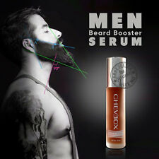 MEN Natural Facial Hair Growth Treatment SERUM FAST GROW Beard Mustache Eyebrows